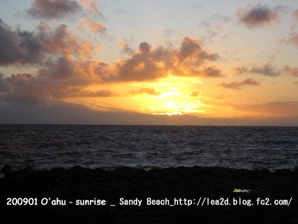 2009年1月_Sunrise(Sandy Beach)