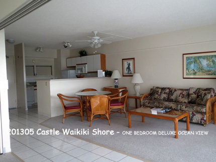 2013年5月 Castle Waikiki Shore - ONE BEDROOM DELUXE OCEAN VIEW