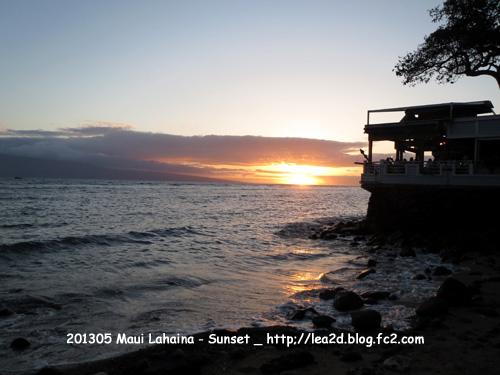 2013年5月 Sunset - Maui_Lahaina