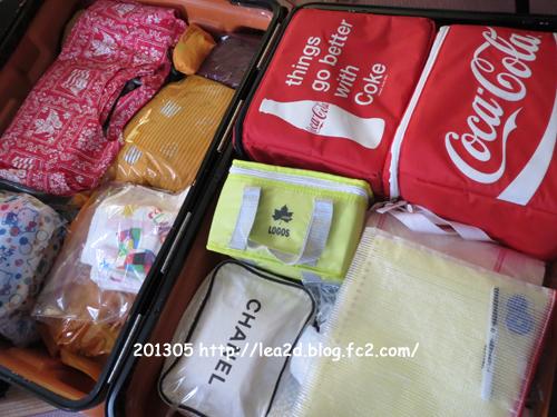 2013年5月 スーツケースの中身