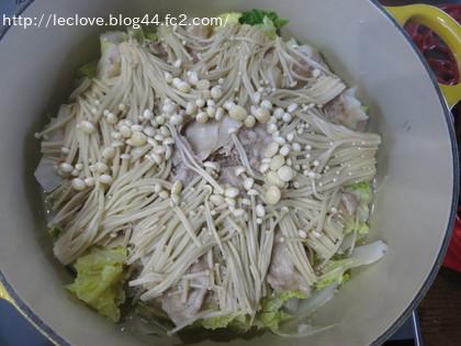 豚肉白菜エノキ蒸し