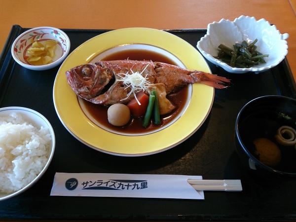 九十九里国民宿舎レストラン 金目鯛の煮付け 20131028