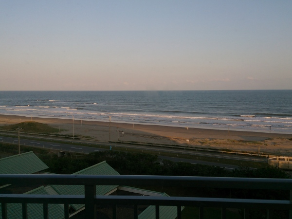 九十九里国民宿舎 部屋からの海の眺め