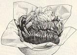 三種の菜肉包みチャーハン図