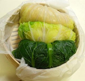 三種の菜肉包みチャーハン17