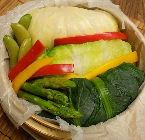 三種の菜肉包みチャーハン21