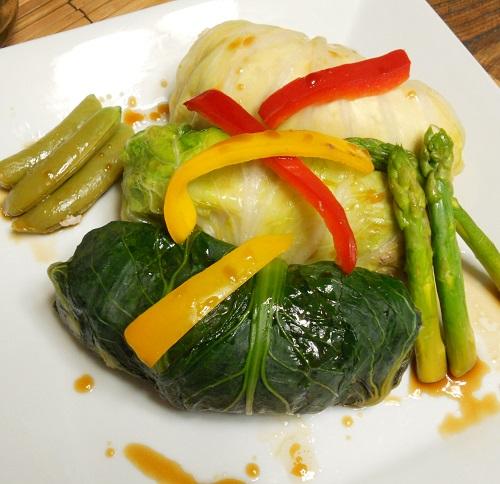 三種の菜肉包みチャーハン22