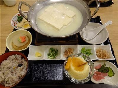 とろける湯豆腐御膳