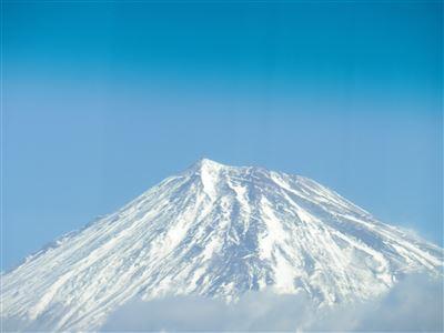 バスから富士山