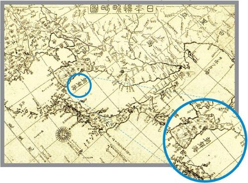 東海併記法案 朝鮮海表記地図