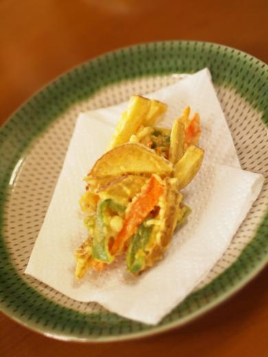 お昼の天ぷら