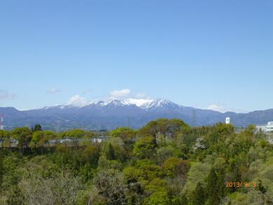谷川岳を望む