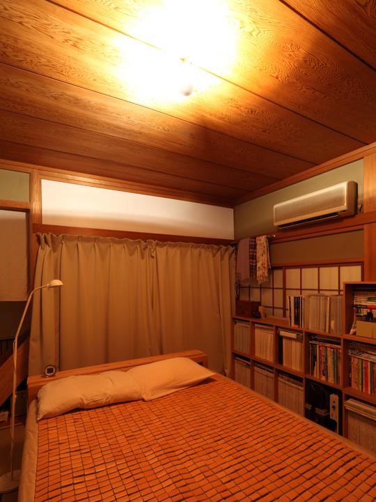 シルバーボールで寝室の間接照明