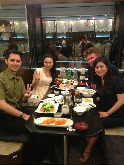 BKK dinner with D-san , Thomas, Pe