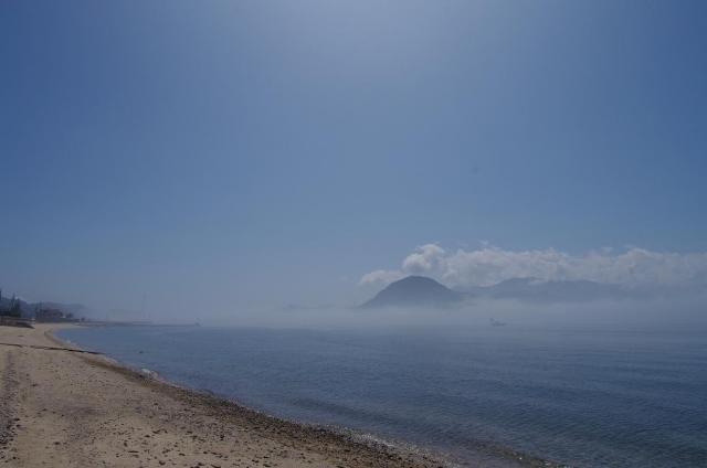 1霧に包まれる瀬戸内海