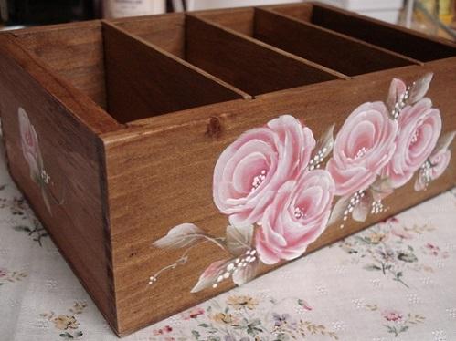 トールペイントの箱