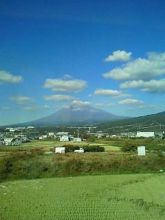 新幹線から富士をパチリ