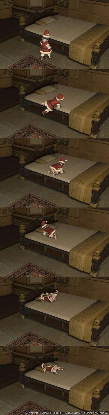 寝る、ららふぇる娘
