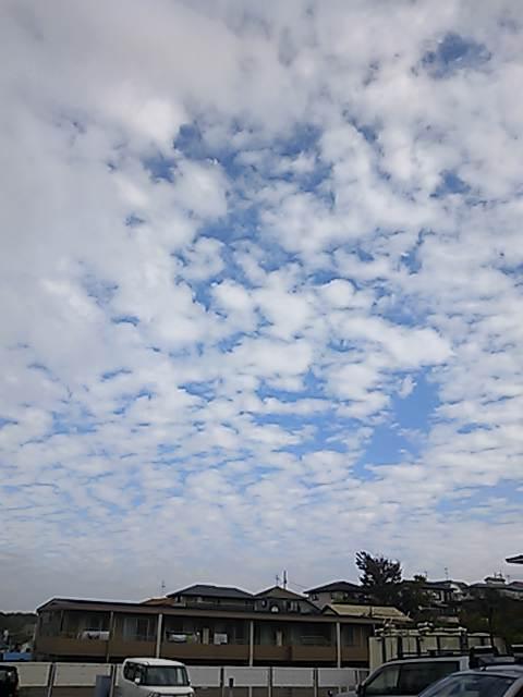 雨上がりの秋の空