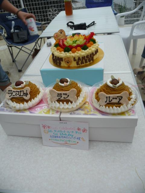 1歳のお誕生日おめでとうのケーキ