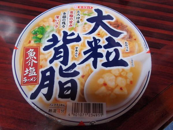 大粒背脂・魚介塩ラーメン