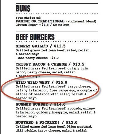 Grilld menu WA