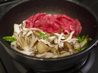 牛肉と舞茸の炒め物02