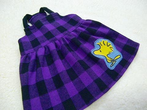 M*mania★ブロックチェックジャンスカ  purple
