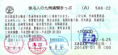 旅名人の九州満喫きっぷ