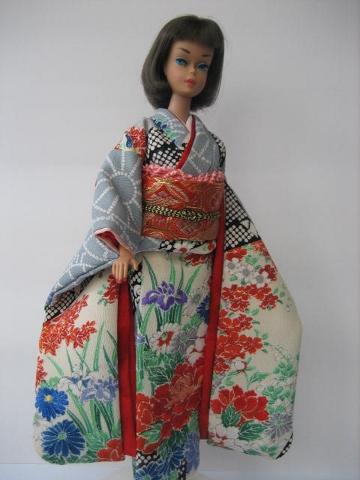 バービー振袖日本刺繍2