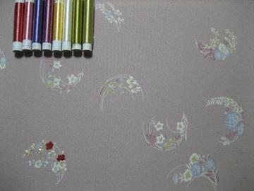日本刺繍 花丸にあしらい1