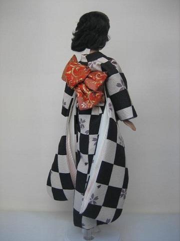 バービー 着物 市松の振袖2