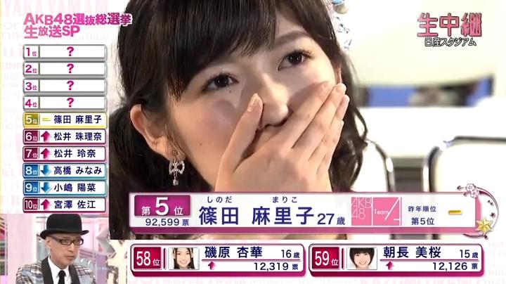 2013年AKB、篠田麻里子が退団宣言!退団を聞いて泣く渡辺麻友