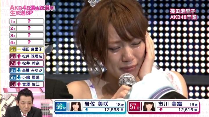 2013年AKB、篠田麻里子が退団宣言!退団を聞いて答える高橋みなみ