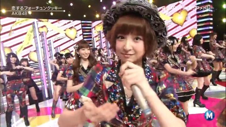 篠田麻里子!Mステにラスト出演!恋するフォーチュンクッキーを歌う篠田麻里子