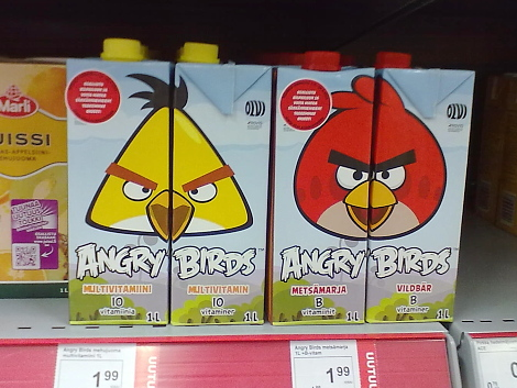 Angry Birds Mehu
