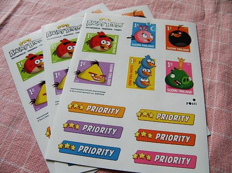 Postimerkki Angry Birds