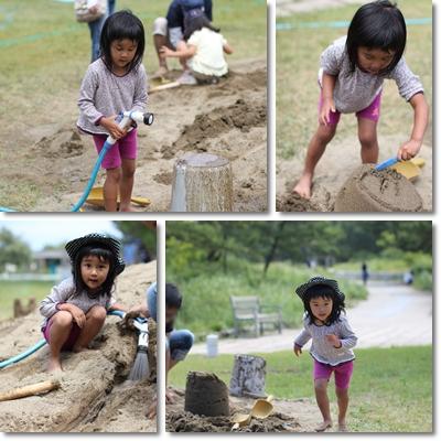 砂場遊びと押し花3