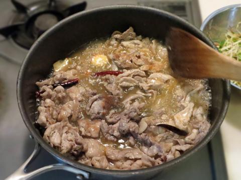豚肉の調理