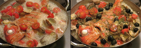 グツグツ煮たらイタリアンパセリをかけて完成