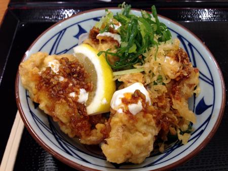 鶏天ぷぶっかけうどん