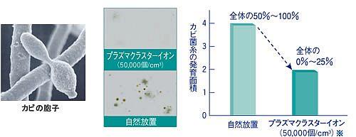 付着カビ菌の増殖抑制効果
