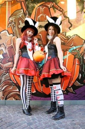 川崎のハロウィンパレードでのコスプレ写真
