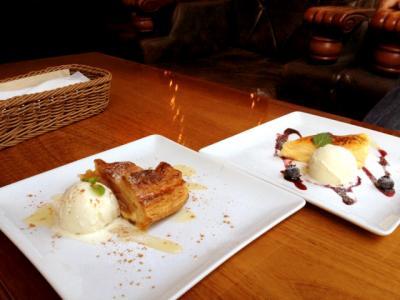 conceal. cafe MIYAMASUZAKA ホットアップルパイ+ベイクドチーズケーキ