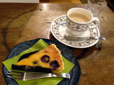 菓子工房ルスルス チェリーのフラン+カフェオレ