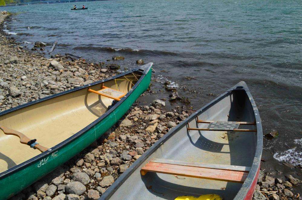 カヌー@河口湖