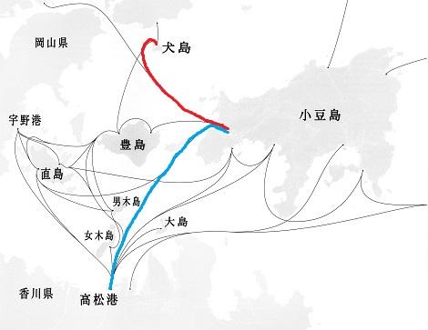 瀬戸内海フェーリー航路 - コピー