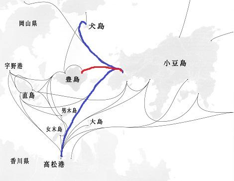 瀬戸内海フェーリー航路