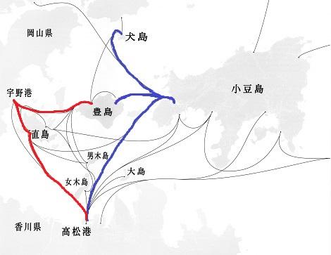 瀬戸<strong>強調文</strong>内海フェーリー航路 - コピー (2) - コピー