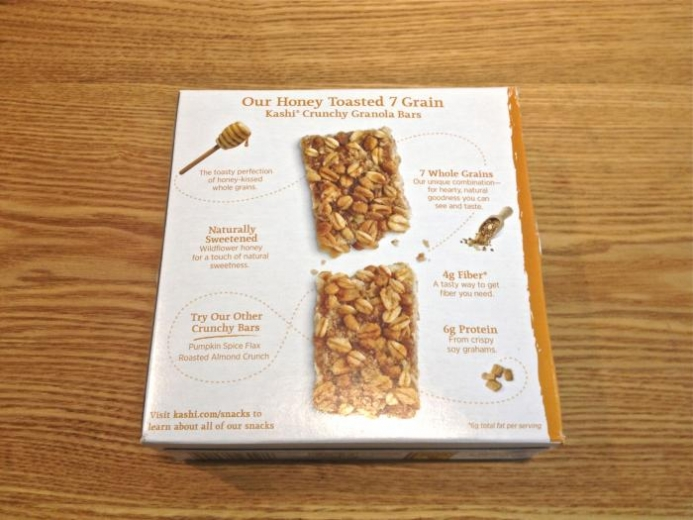 Kashi, Crunchy Granola Bars, Honey Toasted 7 Grain, 12 Bars, 1.4 oz (40 g) Each $5.12_1